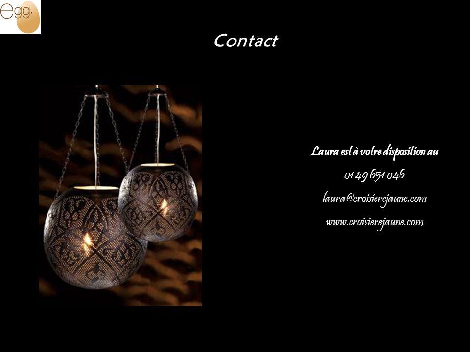 Laura est à votre disposition au 01 49 651 046 laura@croisierejaune.com www.croisierejaune.com Contact