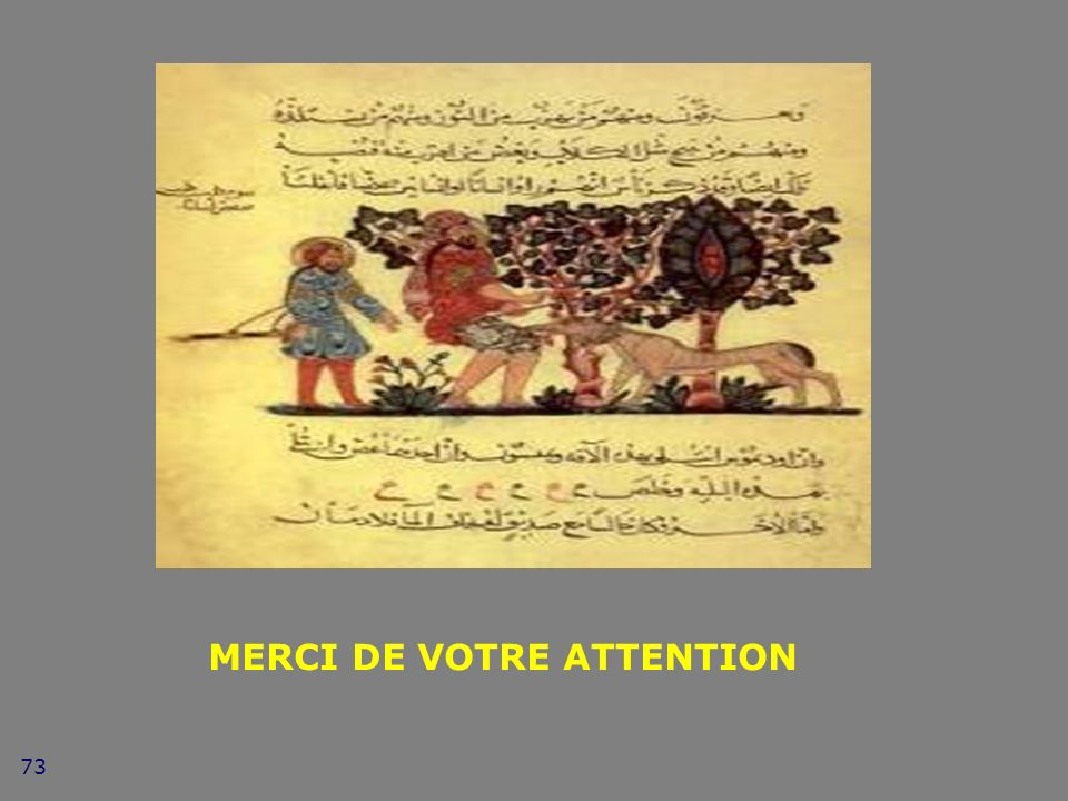 73 MERCI DE VOTRE ATTENTION