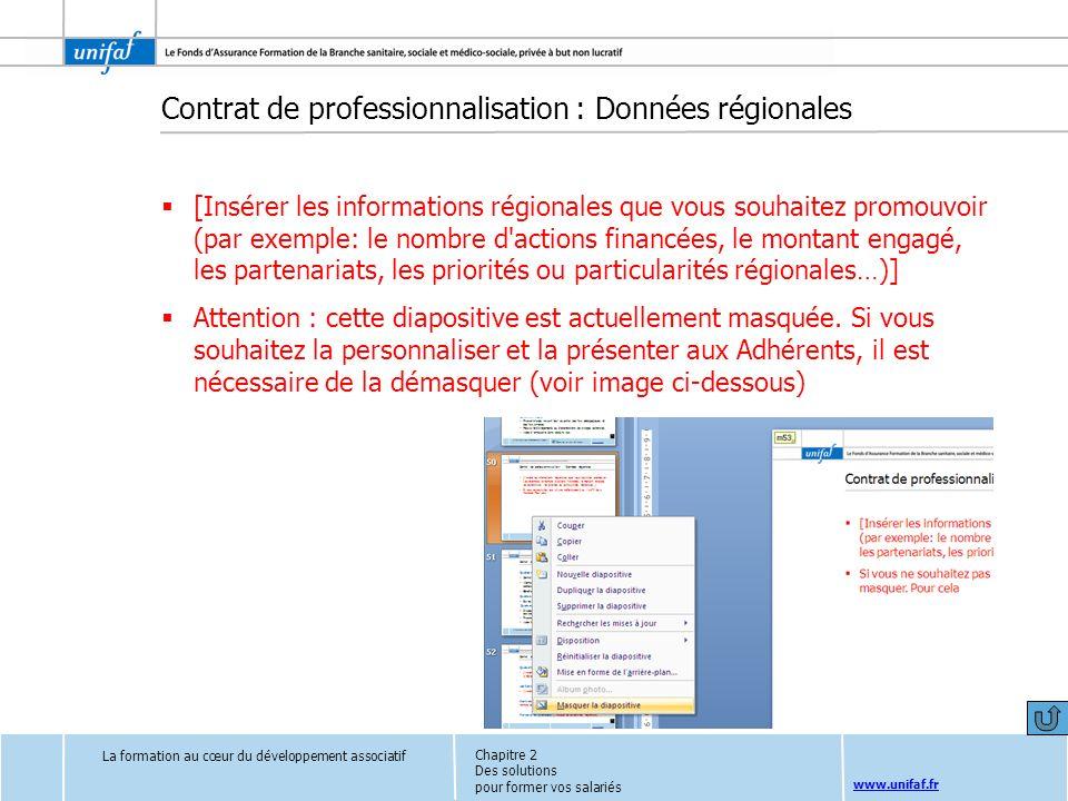 www.unifaf.fr Contrat de professionnalisation : Données régionales [Insérer les informations régionales que vous souhaitez promouvoir (par exemple: le