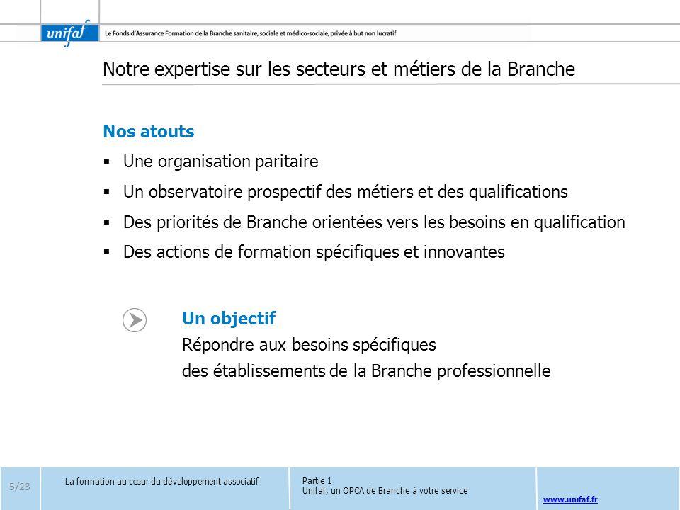 www.unifaf.fr Notre expertise sur les secteurs et métiers de la Branche Nos atouts Une organisation paritaire Un observatoire prospectif des métiers e