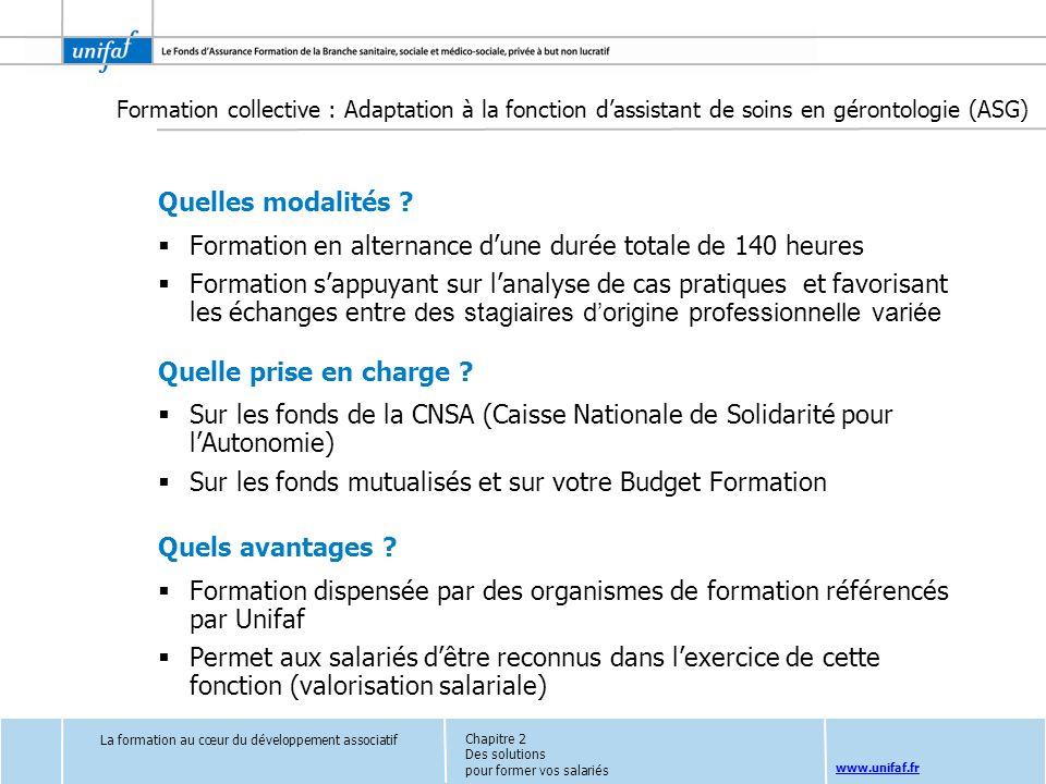 www.unifaf.fr Quelles modalités ? Formation en alternance dune durée totale de 140 heures Formation sappuyant sur lanalyse de cas pratiques et favoris