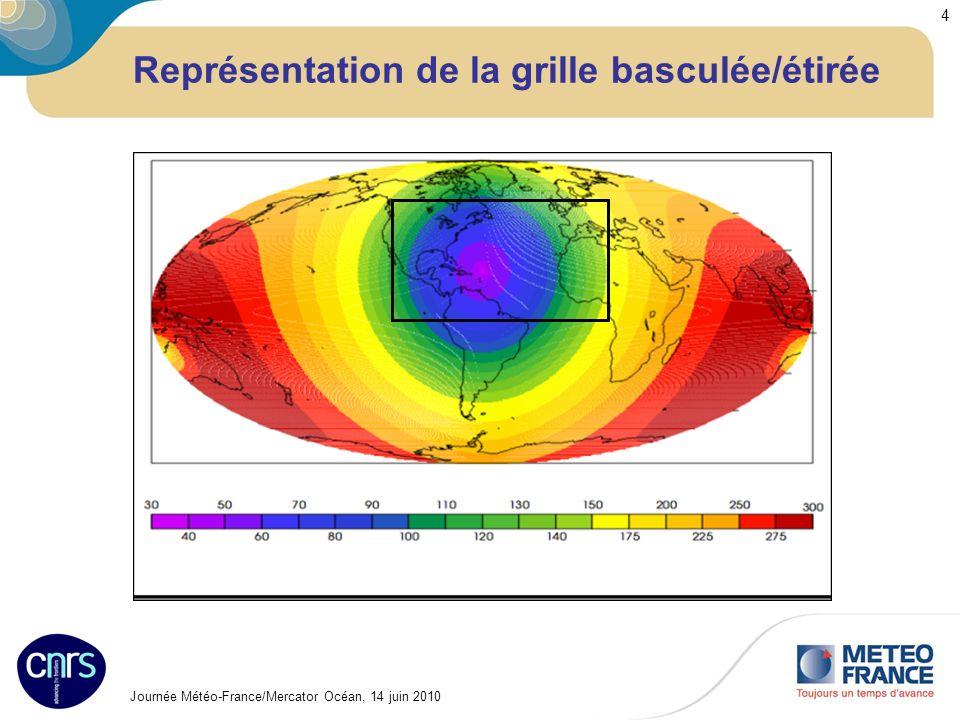 Journée Météo-France/Mercator Océan, 14 juin 2010 4 Représentation de la grille basculée/étirée