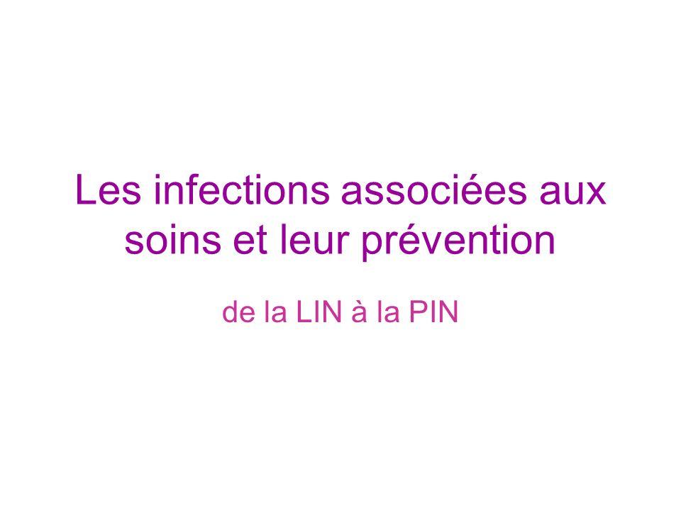 Les infections associées aux soins et leur prévention de la LIN à la PIN