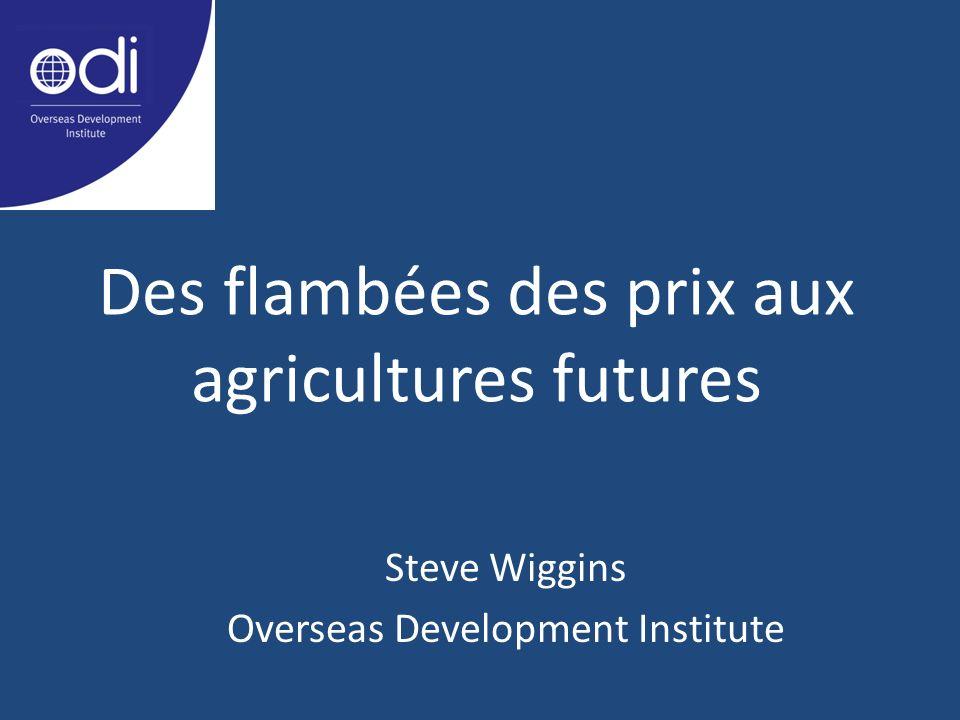Des flambées des prix aux agricultures futures Steve Wiggins Overseas Development Institute