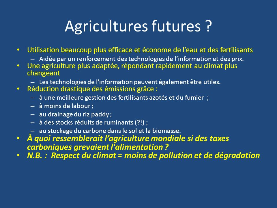 Agricultures futures .