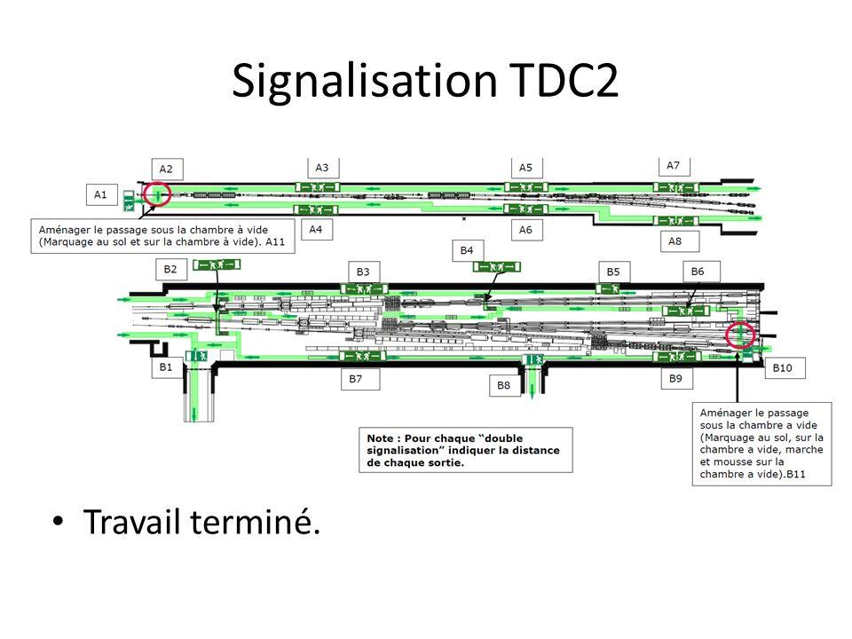 Signalisation TDC2 Travail terminé.