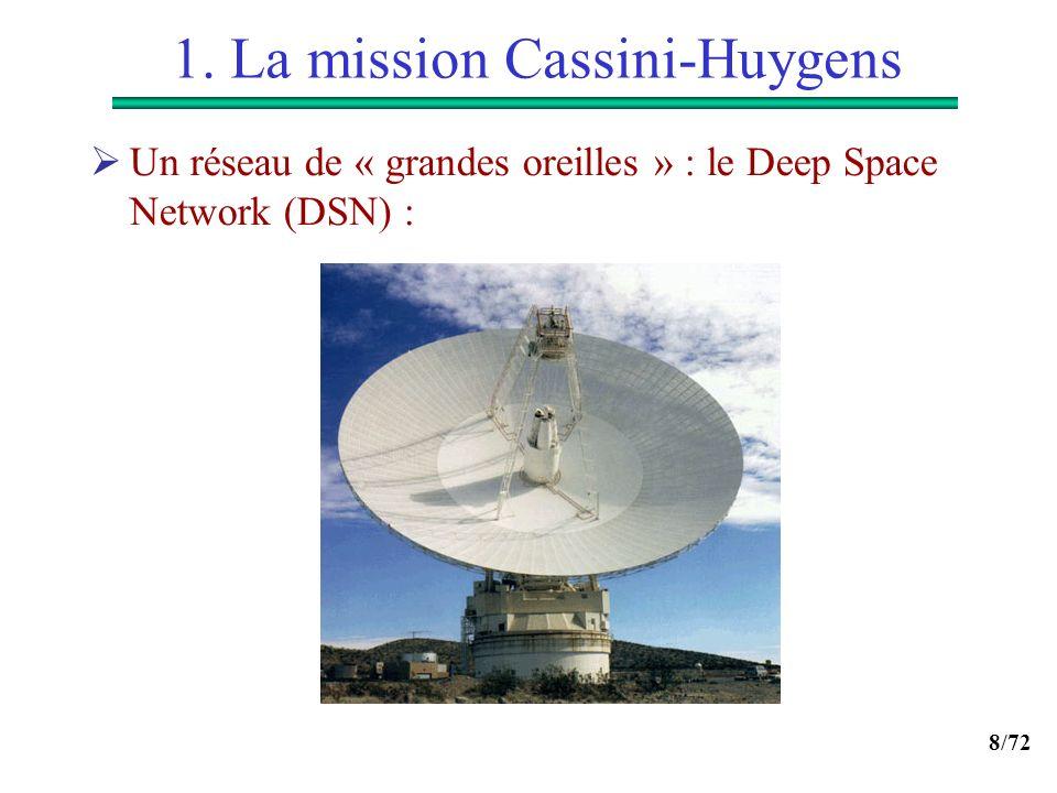 8/72 1. La mission Cassini-Huygens Un réseau de « grandes oreilles » : le Deep Space Network (DSN) :