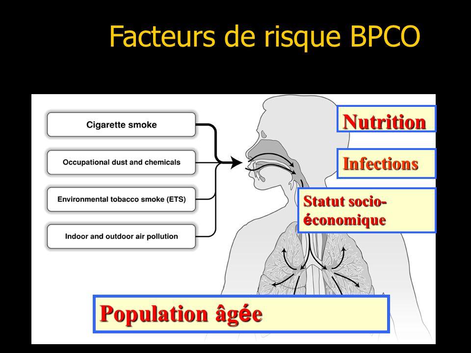 18 Facteurs de risque BPCO Nutrition Infections Statut socio- é conomique Population âg é e