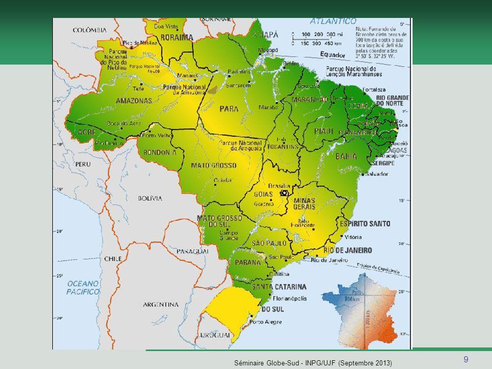 10 Séminaire Globe-Sud - INPG/UJF (Septembre 2013) Porto Alegre Capitale de létat du Rio Grande do Sul Fondation:26 mars 1772 Surface:496.827 m 2 Population:1.430.200 habitants (IBGE 2008) Altitude:10 m ClimatSubtropical umide IDH:0,865 (PNUD/2000) PIB per capita:R$ 19.582,00 (IBGE 2005) Décalage horaire:3 à 5 heures