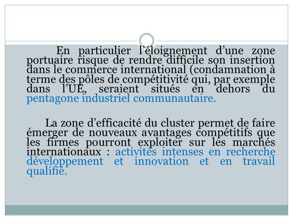 En particulier léloignement dune zone portuaire risque de rendre difficile son insertion dans le commerce international (condamnation à terme des pôle