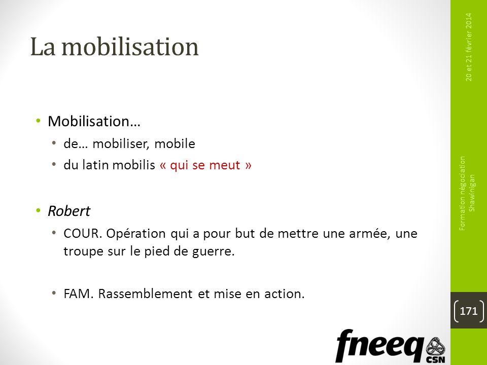 La mobilisation Mobilisation… de… mobiliser, mobile du latin mobilis « qui se meut » Robert COUR. Opération qui a pour but de mettre une armée, une tr