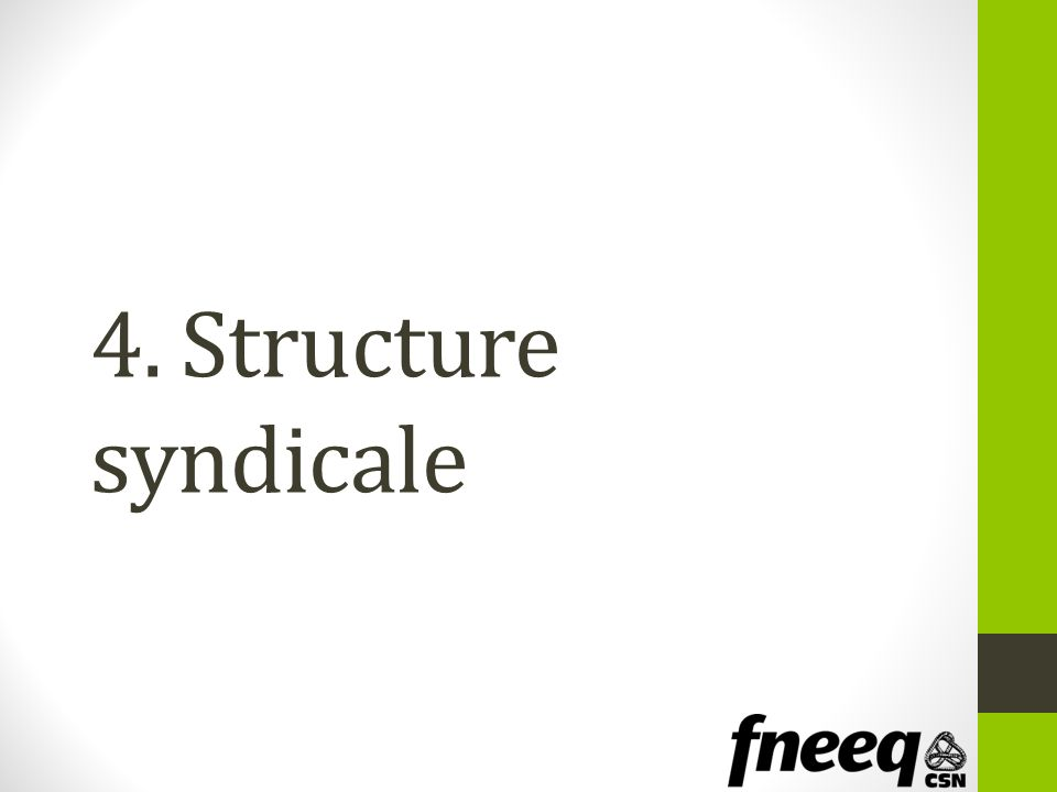 4. Structure syndicale