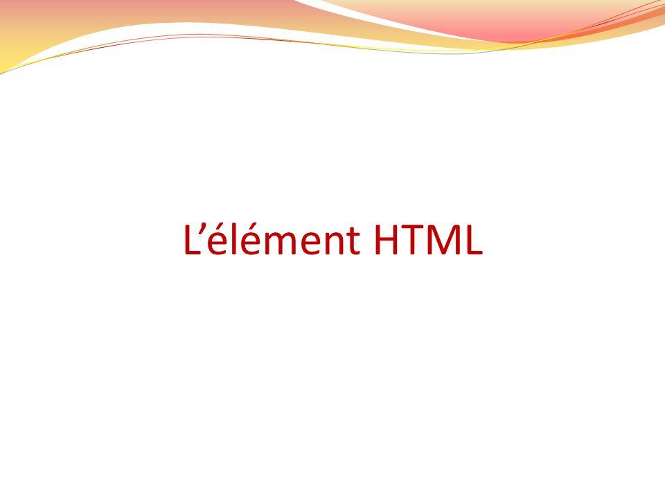 Lélément HTML