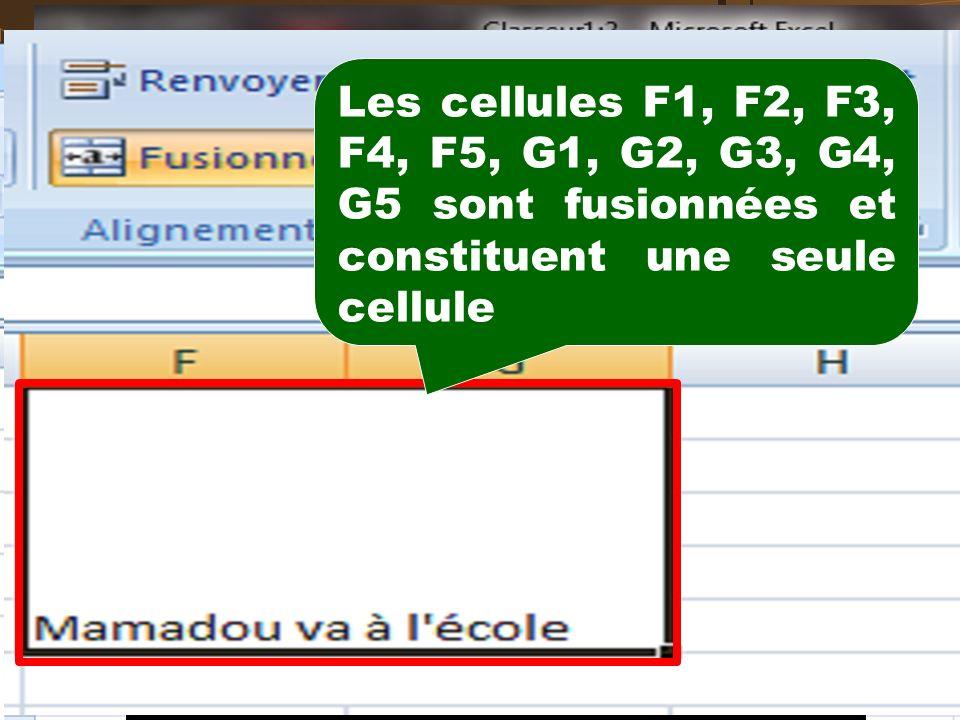 Les boutons du groupe «Alignement» de longlet Accueil permettent le positionnement du contenu de la cellule dans la cellule : Aligner le texte : En ha