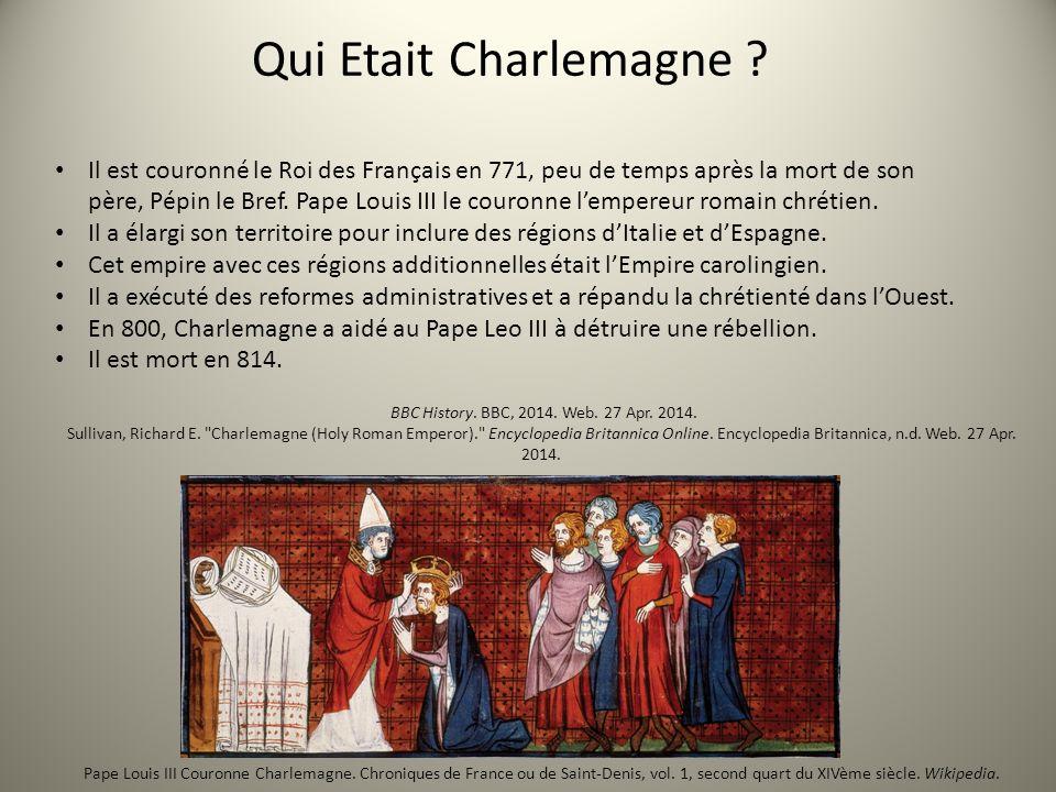 Qui Etait Charlemagne ? Il est couronné le Roi des Français en 771, peu de temps après la mort de son père, Pépin le Bref. Pape Louis III le couronne
