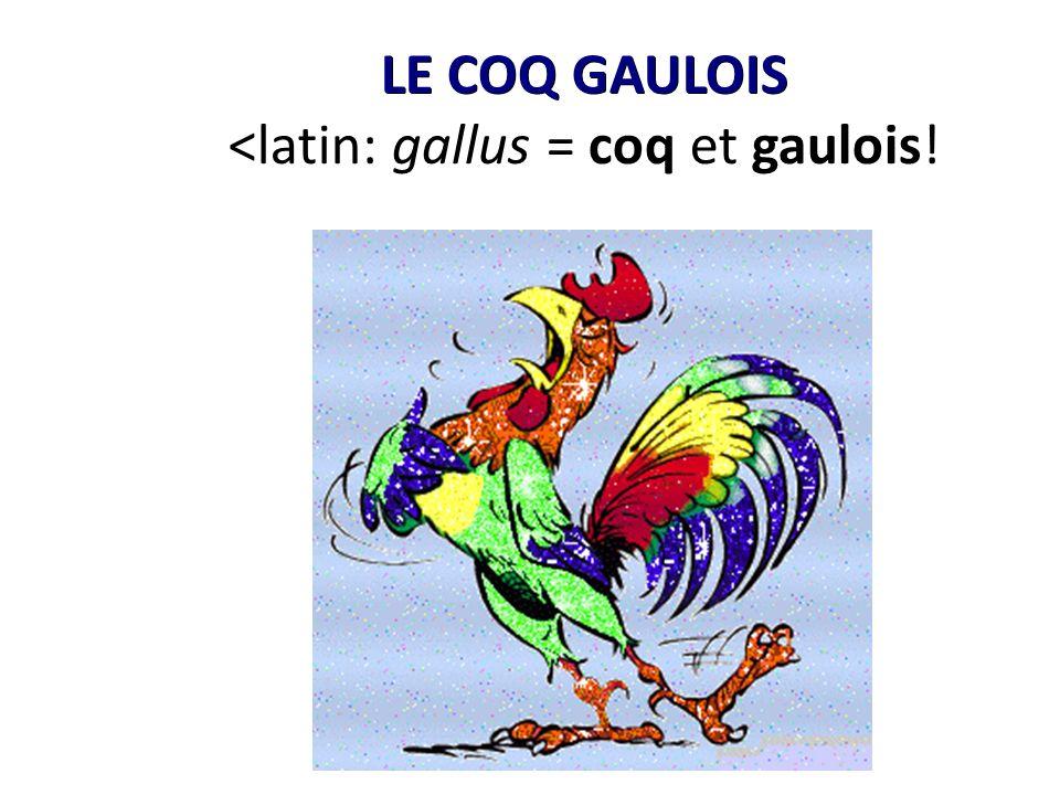LE COQ GAULOIS LE COQ GAULOIS <latin: gallus = coq et gaulois!