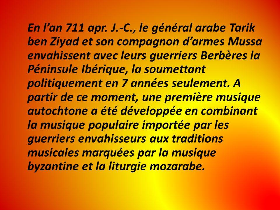 Cette riche amalgame fut mise en ordre et théorisée par le premier grand musicologue dAl-Andalus, Zyriab de Cordoue, maître musicien né au IXe siècle en Perse et formé à Bagdad avant de sinstaller définitivement à Cordoue, capitale de lEspagne musulmane.