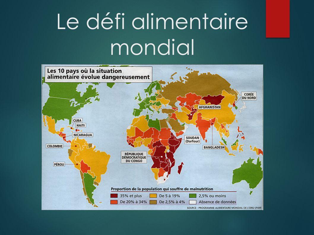 Le défi alimentaire mondial