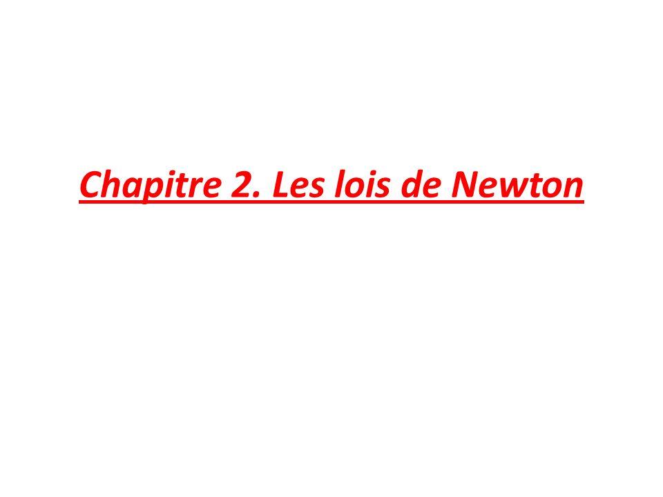 Chapitre 2. Les lois de Newton