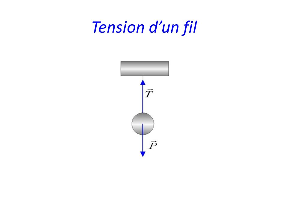Tension dun fil