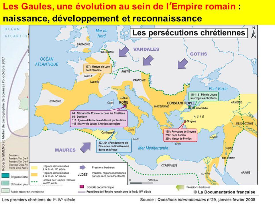 Les Gaules, une évolution au sein de lEmpire romain : naissance, développement et reconnaissance