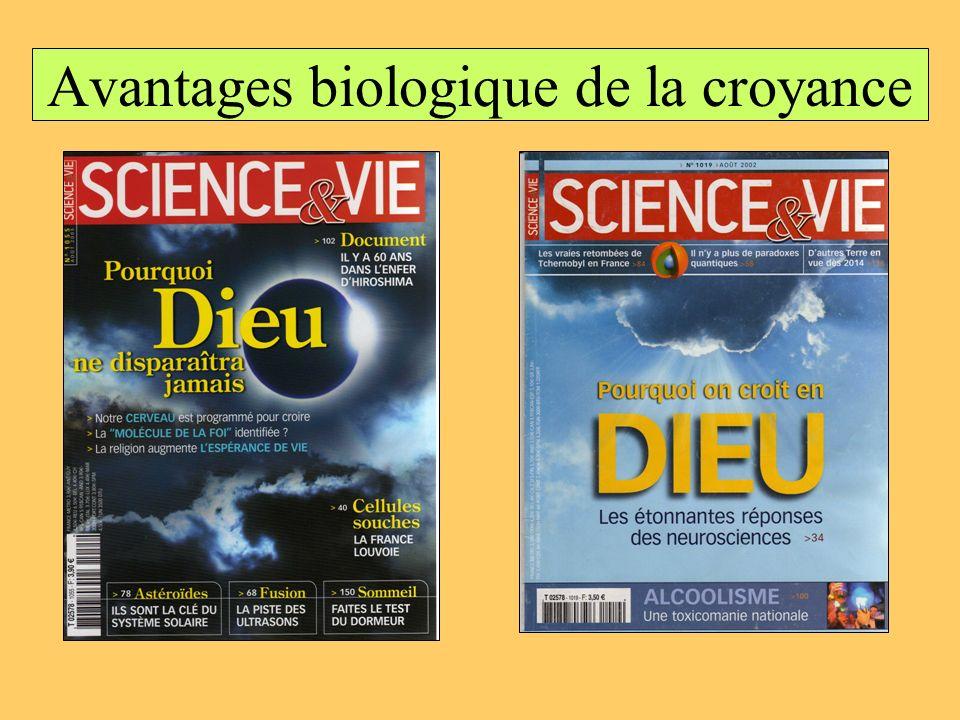 Avantages biologique de la croyance