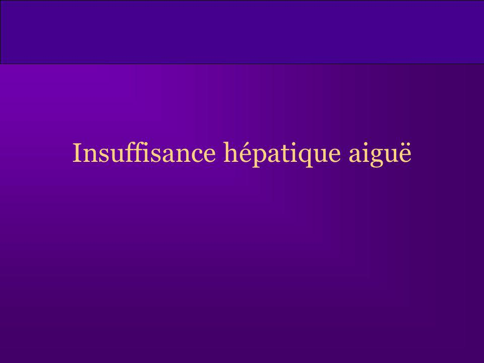 Insuffisance hépatique aiguë