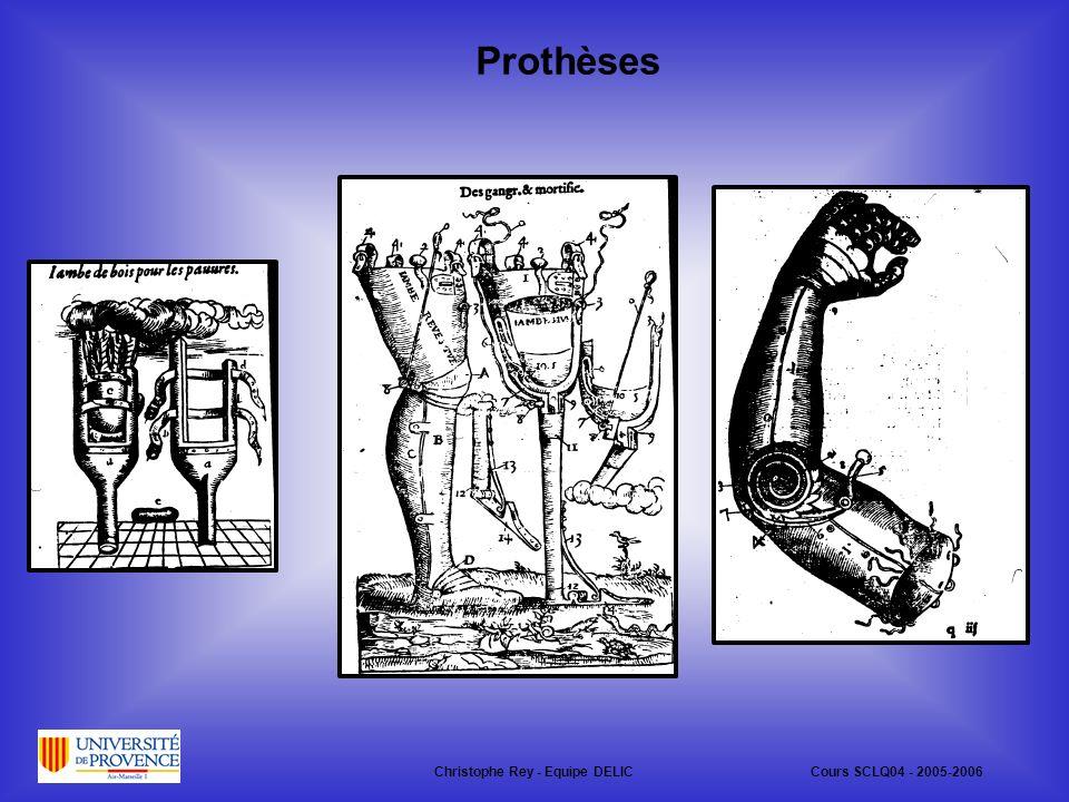 Prothèses Christophe Rey - Equipe DELICCours SCLQ04 - 2005-2006