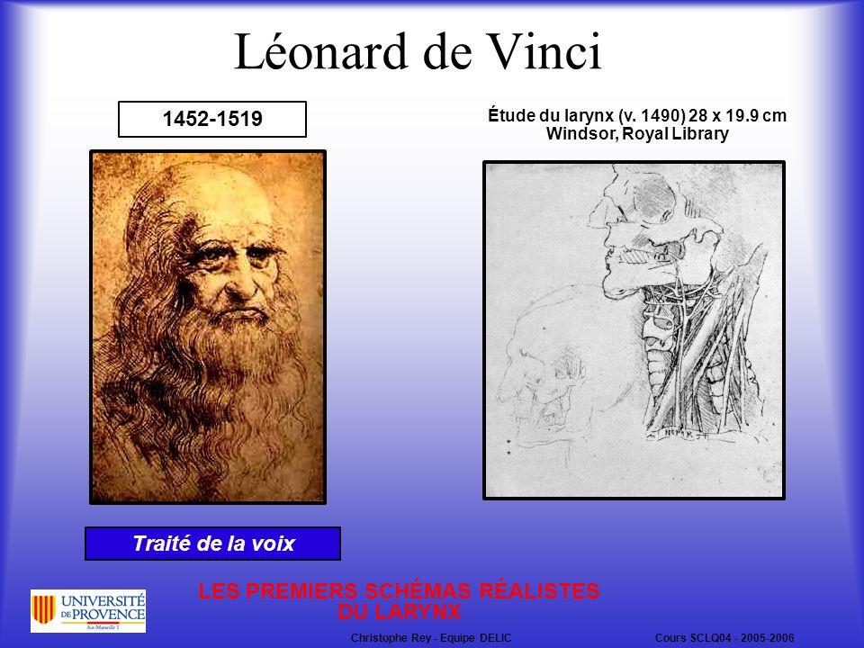 Léonard de Vinci 1452-1519 Étude du larynx (v.