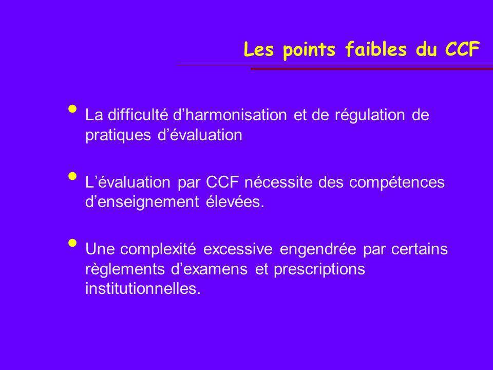 La mise en œuvre du CCF …