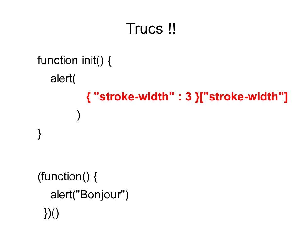 Trucs !! function init() { alert( {