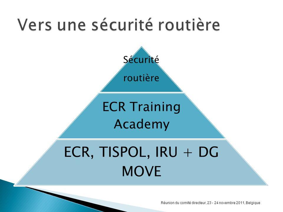 Sécurité routière ECR Training Academy ECR, TISPOL, IRU + DG MOVE Réunion du comité directeur, 23 - 24 novembre 2011, Belgique