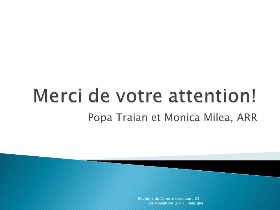Popa Traian et Monica Milea, ARR Réunion du Comité directeur, 23 - 24 Novembre 2011, Belgique
