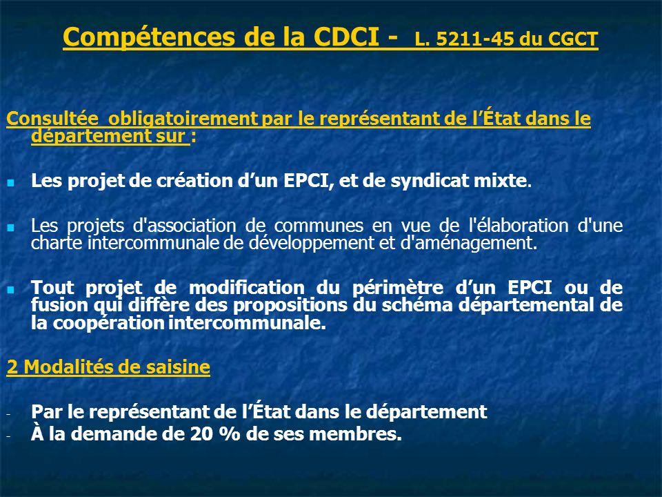 Compétences de la CDCI - L.
