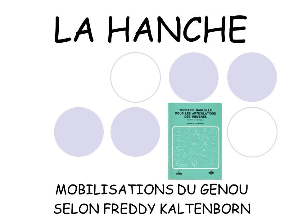 LA HANCHE MOBILISATIONS DU GENOU SELON FREDDY KALTENBORN