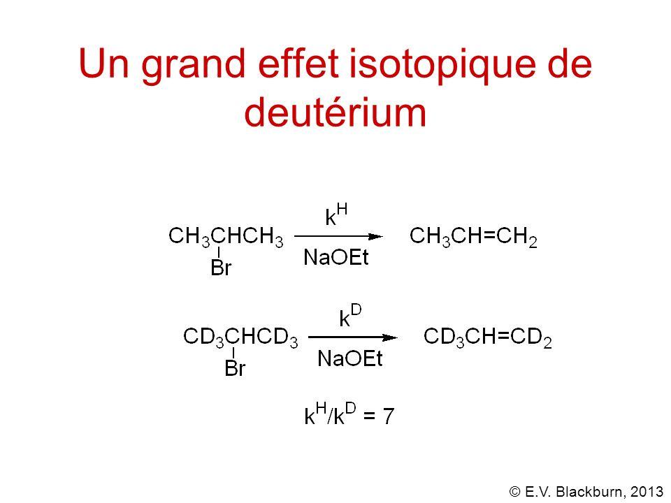 © E.V. Blackburn, 2013 Un grand effet isotopique de deutérium