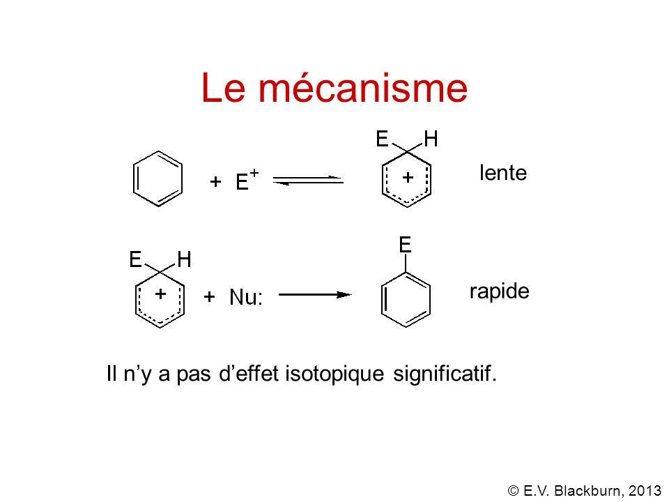 © E.V. Blackburn, 2013 Le mécanisme lente rapide Il ny a pas deffet isotopique significatif.