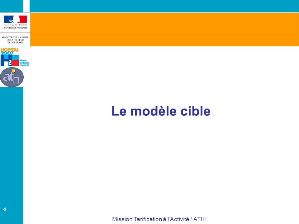 4 Mission Tarification à lActivité / ATIH Le modèle cible