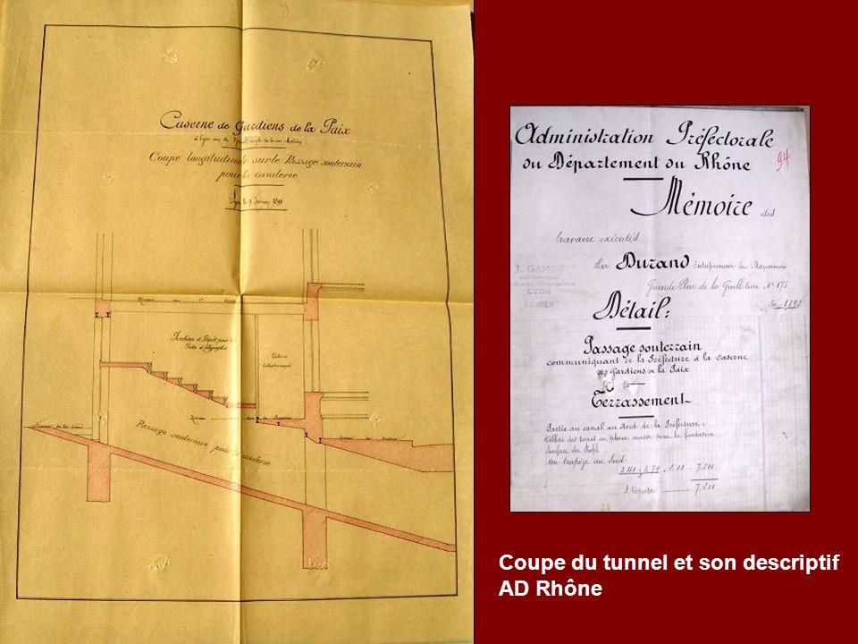 Coupe du tunnel et son descriptif AD Rhône