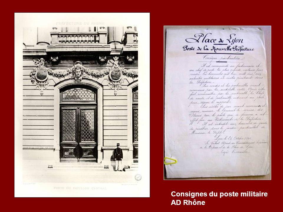 Consignes du poste militaire AD Rhône