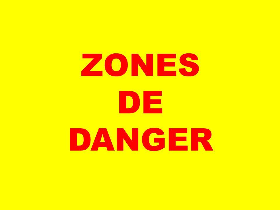 ZONES DE DANGER