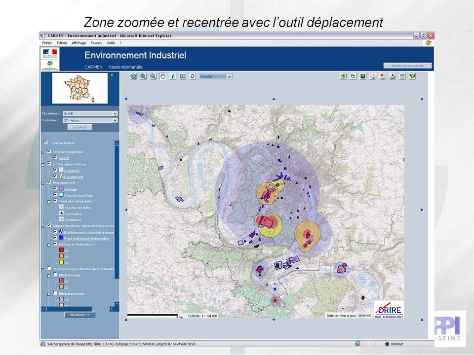 41 Zone zoomée et recentrée avec loutil déplacement