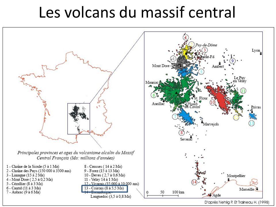 Les volcans du massif central