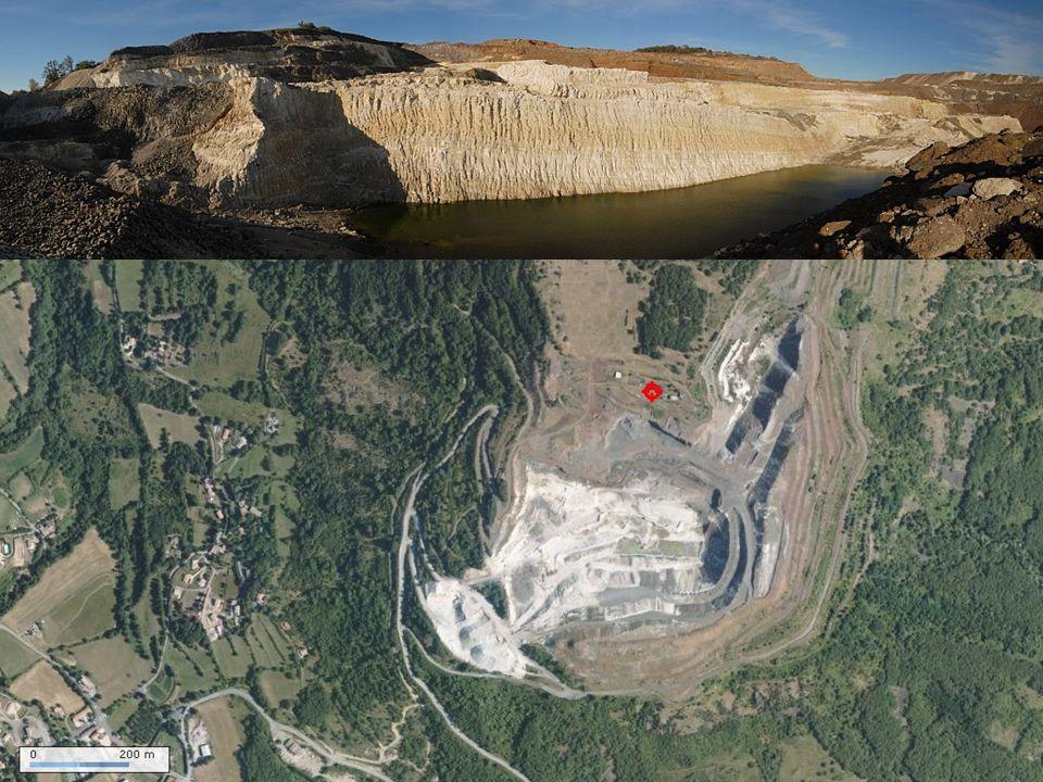 Cartes géologiques Lien vers la légende: Affleurement de diatomite