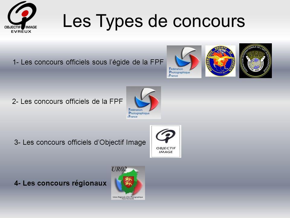 Les Types de concours Il est demandé à chaque club : 5 photographies en format JPEG, de dimension 1024 x 768 pixels.