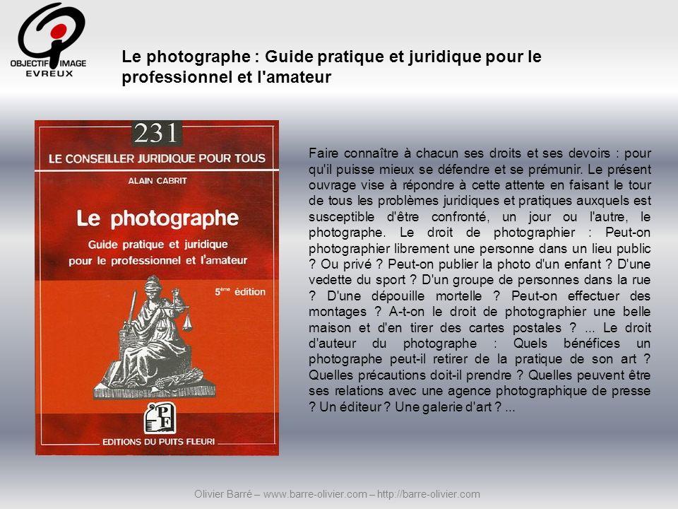 Cet ouvrage, quatrième titre de notre collection de guides pratiques, décrypte l intégralité des notions qui constituent le socle du droit d auteur et du droit de (et à) l image.