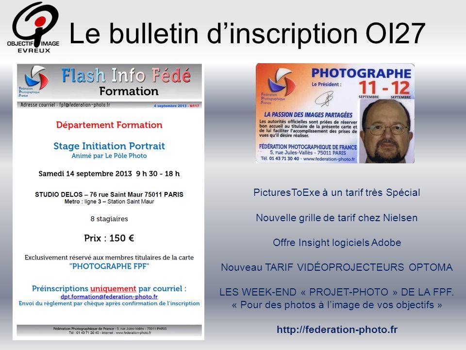 Le bulletin dinscription OI27 11 13