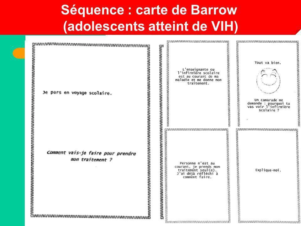 Séquence : carte de Barrow (adolescents atteint de VIH)