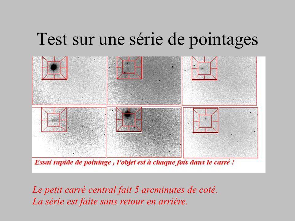 Précision du pointage par limage Le champ : 24'×18' Icx285 @ 1260mm En AD, le logiciel rattrape automatiquement le jeu dans le sens RA+, qui est le se