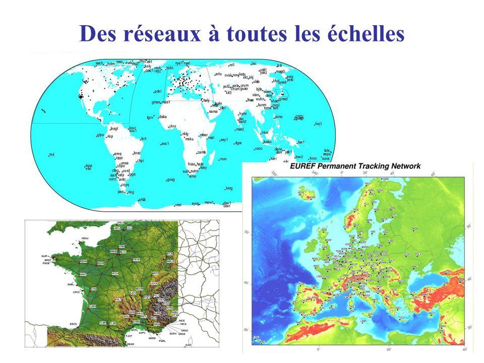Sites web relatifs au GPS géodynamique Séries temporelles calculées par JPL –http://sideshow.jpl.nasa.gov/mbh/series.htmlhttp://sideshow.jpl.nasa.gov/mbh/series.html Séries temporelles disponibles à UNAVCO: –http://sps.unavco.org/crustal_motion/dxdt/http://sps.unavco.org/crustal_motion/dxdt/ IGS –http://igscb.jpl.nasa.gov/http://igscb.jpl.nasa.gov/ EUREF –http://www.epncb.oma.be/http://www.epncb.oma.be/ SOPAC –http://sopac.ucsd.edu/http://sopac.ucsd.edu/